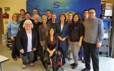 Premier of British Columbia visits SEAMOR Marine