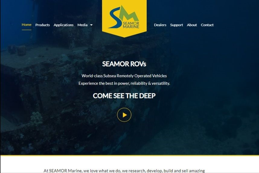 SEAMOR Marine launches new website and updated branding